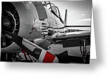 T-28b Trojan In Selective Color Greeting Card by Doug Camara