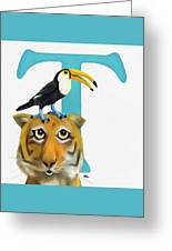 T Is For Two Greeting Card