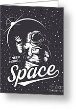 T-shirt Design Print. Space Theme Greeting Card