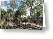 Ta Prohm Temple Inside Angkor Complex, Cambodia. Greeting Card