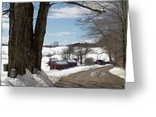 Take A Ride Down To The Jenne Farm Greeting Card by Jeff Folger