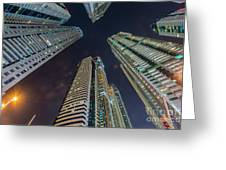 Tall Residential Buildings In Dubai Greeting Card