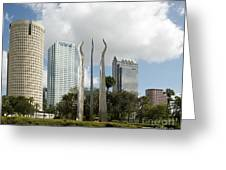 Tampa Skyline, 2007 Greeting Card