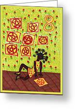 Tarot Of The Younger Self Eight Of Pentacles Greeting Card