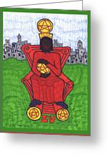 Tarot Of The Younger Self Four Of Pentacles Greeting Card