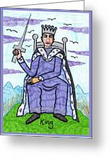 Tarot Of The Younger Self King Of Swords Greeting Card