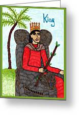 Tarot Of The Younger Self King Of Wands Greeting Card