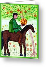 Tarot Of The Younger Self Knight Of Pentacles Greeting Card