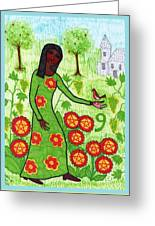 Tarot Of The Younger Self Nine Of Pentacles Greeting Card