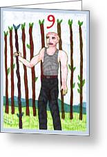 Tarot Of The Younger Self Nine Of Wands Greeting Card