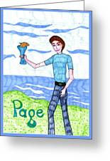 Tarot Of The Younger Self Page Of Cups Greeting Card