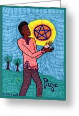 Tarot Of The Younger Self Page Of Pentacles Greeting Card