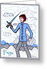 Tarot Of The Younger Self Page Of Swords Greeting Card