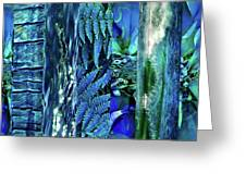 Teal Abstract Greeting Card