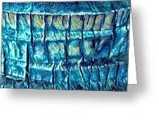 Teal Palm Bark Greeting Card by Cindy Greenstein