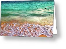 Teal Shore  Greeting Card by Cindy Greenstein