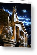 Temple Of Hercules In Kassel Greeting Card