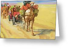 Ten Thousand Mile Motor Race Camel Train Greeting Card