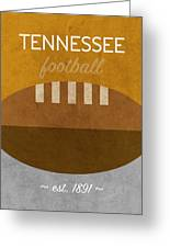 Tennessee Football Minimalist Retro Sports Poster Series 004 Greeting Card