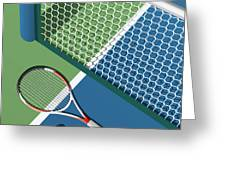 Tennis Court Greeting Card