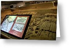 Terra Cotta Warriors In Pit 3 Ruins With Diagram Greeting Card