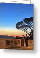 Terrazza Del Pincio Greeting Card