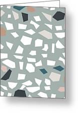 Terrazzo 1- Art By Linda Woods Greeting Card