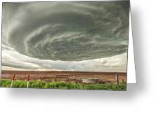 Texas Panhandle Wall Cloud Greeting Card by Scott Cordell