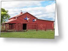 Texas Red Barn Greeting Card by Robert Bellomy