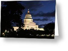 Texas State Capital Dawn Panorama Greeting Card