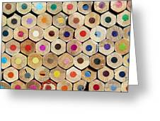 Texture Of Colored Pencils Greeting Card