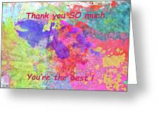 Thank You So Much Hibiscus Abstract Greeting Card
