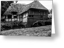 Thatched Watermill 2 Greeting Card