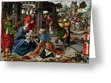 The Adoration Of The Magi With Donor  Greeting Card