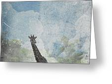 The African Giraffe Greeting Card by Mary Lee Dereske