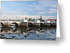The Antique Bridge Of Tavira. Portugal Greeting Card