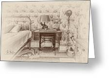 The Antique Sewing Machine Greeting Card