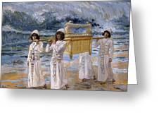 The Ark Passes Over The Jordan, 1902 Greeting Card