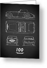 The Austin-healey 100 Greeting Card