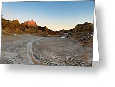 The Badlands And A Sunrise Greeting Card