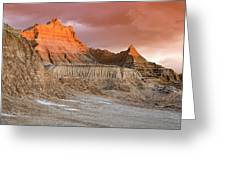 The Badlands With Another Sunrise Greeting Card