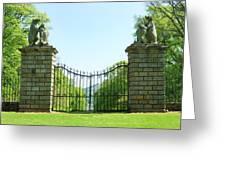 The Bear Gates At Traquair Greeting Card