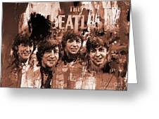The Beatles Art  Greeting Card
