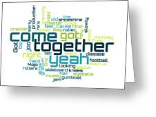 The Beatles - Come Together Lyrical Cloud Greeting Card