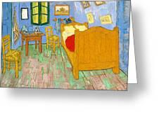 The Bedroom At Arles - Digital Remastered Edition Greeting Card