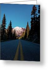 The Best Roads Lead To Rainier Greeting Card