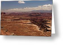 The Canyon Floor Below - 1 Greeting Card