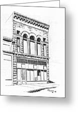 The Capital Transfer And Sands Brothers Building Helena Montana Greeting Card