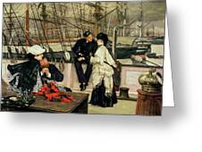The Captain And The Mate, 1873 Greeting Card