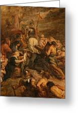 The Carrying Of The Cross, 1634 - 1637 Greeting Card